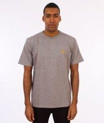 Carhartt-Chase T-Shirt Grey Heather/Gold