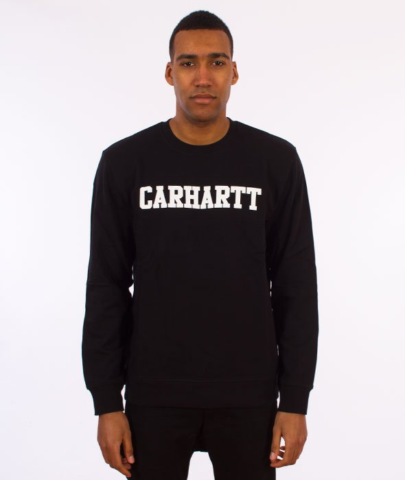 Carhartt-College Sweatshirt Bluza Black/White