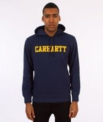 Carhartt-Hooded College Sweat Bluza Kaptur Blue/Yellow