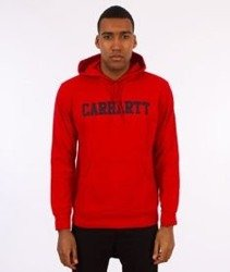 Carhartt-Hooded College Sweat Bluza Kaptur Chili/Navy