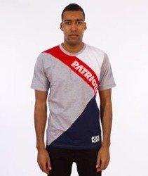 Patriotic-Cut T-shirt Szary/Czerwony/Biały/Granatowy