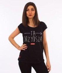 Stoprocent-Brzydsza T-Shirt Damski Czarny