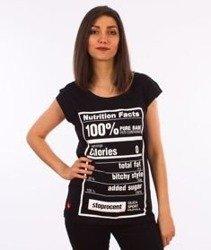 Stoprocent-Nutri T-Shirt Damski Czarny