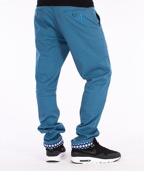 Alkopoligamia-Aa' Long Chinos Spodnie Niebieskie