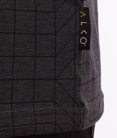 Alkopoligamia-ΔLKO' Pattern T-Shirt Grafitowy