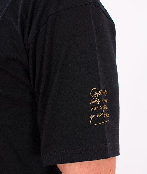Biuro Ochrony Rapu-Czyste Złoto T-shirt Czarny