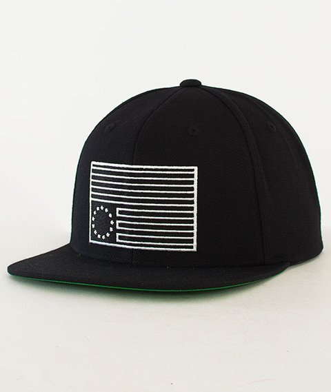 Black Scale-Dark Rebel Snapback Black
