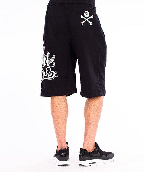 Brain Dead Familia-Occult Baseball Spodnie Krótkie Dresowe Czarne