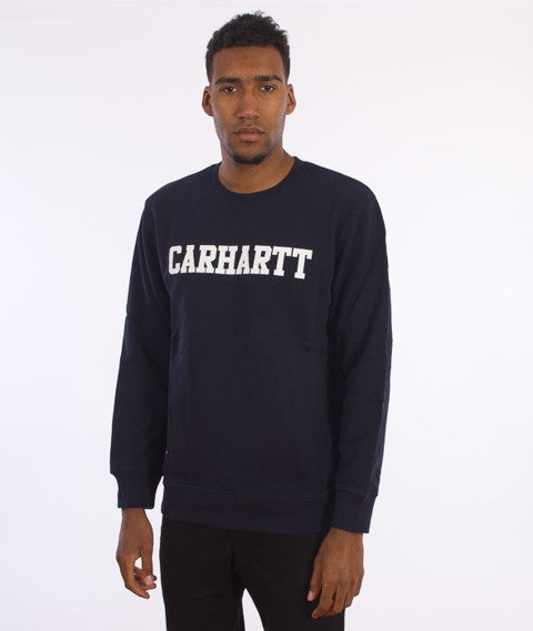 Carhartt-College Sweatshirt Navy/White