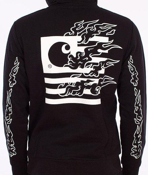 Carhartt-State Flames Bluza Z Kapturem Black