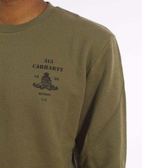 Carhartt WIP-Artillery Sweatshirt Cotton Rover Green/Black
