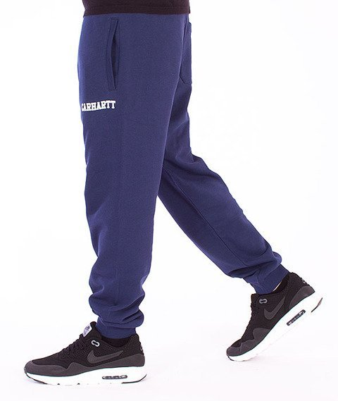 Carhartt WIP-College Sweat Pants Blue/White