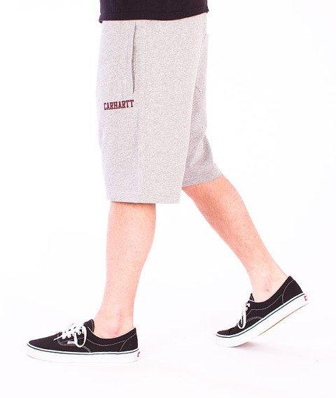 Carhartt WIP-College Sweat Short Grey Heathet/Cordovan