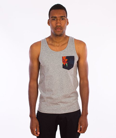 Carhartt WIP-Lester Pocket Tank Top Grey Heather/Tropic