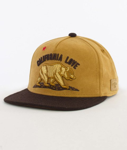 Cayler & Sons-Cali Love Cap Snapback Honey Suede/Brown