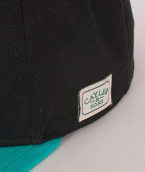 Cayler & Sons-Kushstock Cap Black/Teal