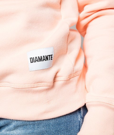 Diamante-Basic Crewneck Damski Bluza Łososiowa
