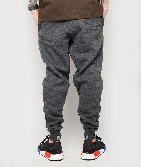 Diamante-Hipster Spodnie Dresowe Grafitowe
