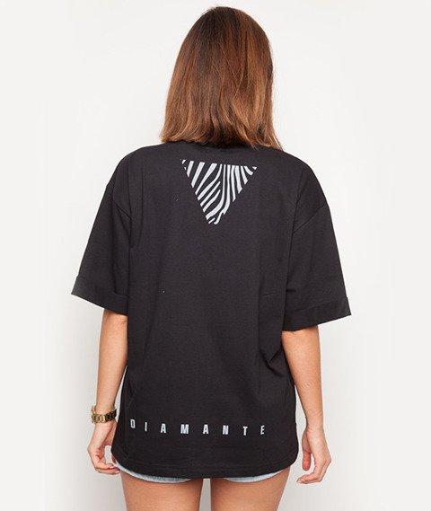 Diamante-Mrs Not Enough Clothes T-shirt Damski Czarny