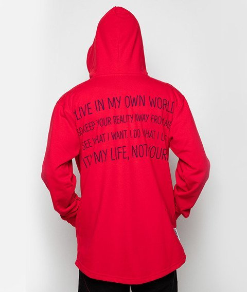 Diamante-My Life 2 Hoodie Bluza Kaptur Czerwona