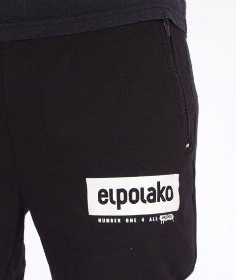 El Polako-Classic 08 Fit Spodnie Dresowe Czarne