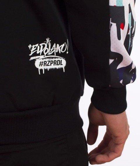 El Polako-Grafitti Hoody Bluza Kaptur Czarna