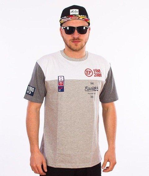 El Polako-Half Colour T-Shirt Szary/Grafitowy