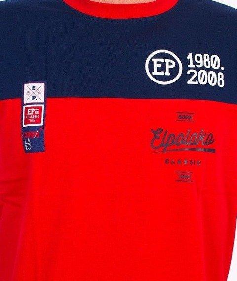 El Polako-Half Court T-Shirt Czerowny/Granatowy