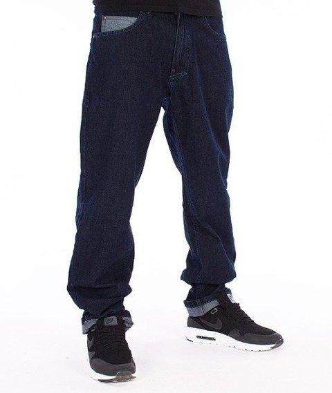 El Polako-Half Pocket Slim Spodnie Jeans Ciemne Spranie