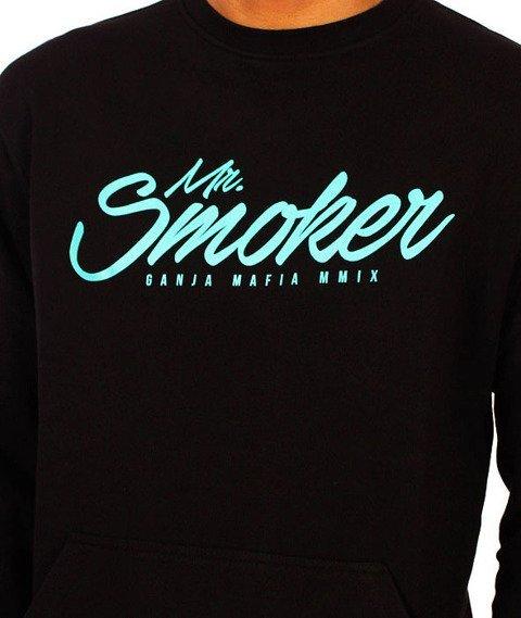 Ganja Mafia-Mr. Smoker Bluza Czarna/Miętowa