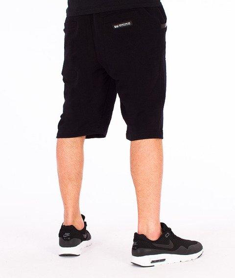 Ganja Mafia-Multilogo Spodnie Krótkie Dresowe Czarne