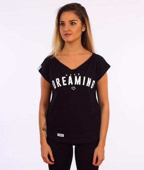 Ganja Mafia-Off SH Keep Dreaming T-Shirt Damski Czarny