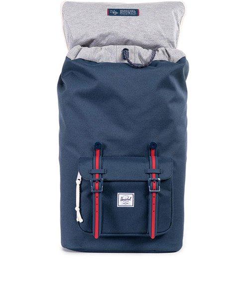 Herschel-Little America Backpack Hounds Home Navy/Red  [10014-00725]