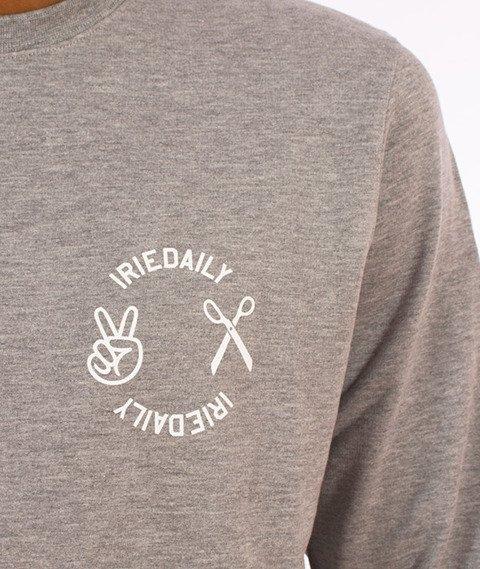 Iriedaily-Scissor Crew Bluza Grey Melange