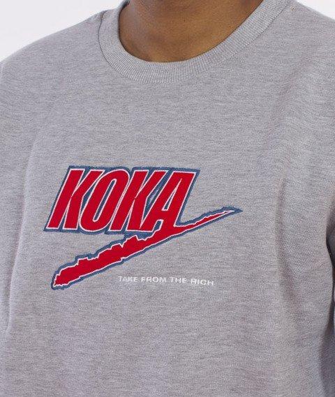 Koka-Fake Bluza Szara