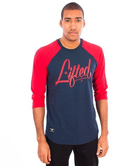 LRG-3/4 Sleeve Raglan Navy/Red
