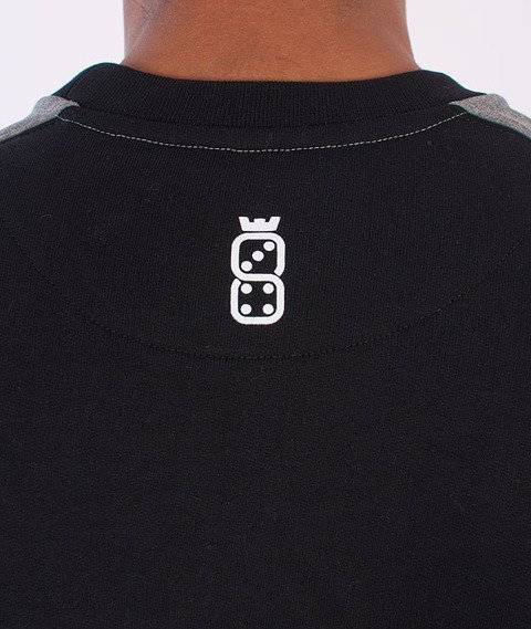Lucky Dice-College Bluza Czarna/Grafitowa