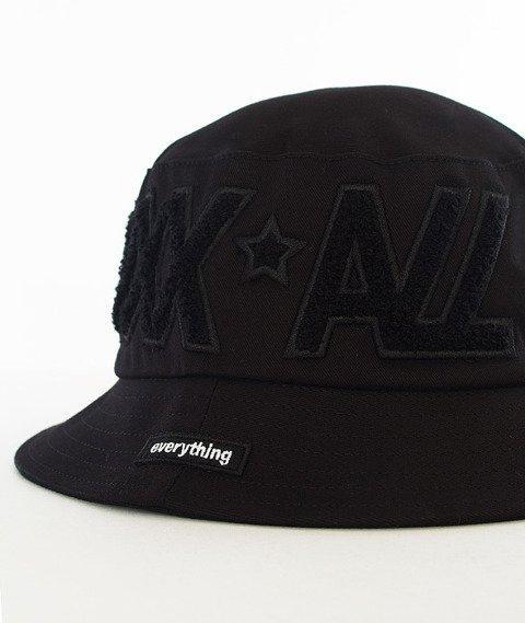 LuxxAll-Word Bucket Hat Czarny/Czarny