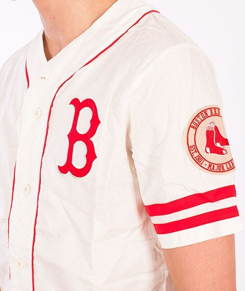 Majestic-Boston Red Socks Jersey Ecru