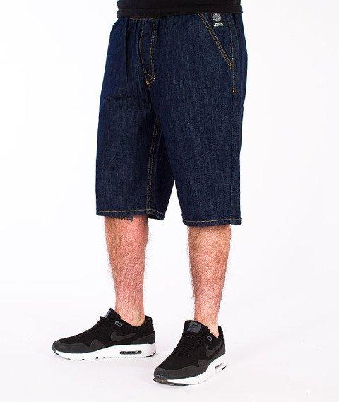 Mass-Base Chino Spodnie Krótkie Jeans Rinse Blue