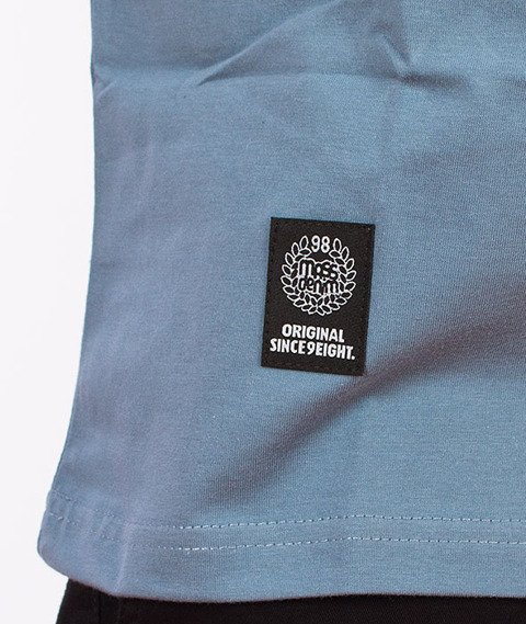 Mass-Base T-Shirt Stalowy Niebieski/Biały