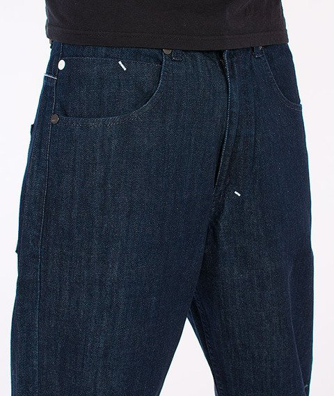 Mass-Outsized Baggy Fit Jeans Rinse Blue