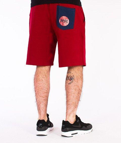 Mass-Signature Spodnie Dresowe Krótkie Bordowe