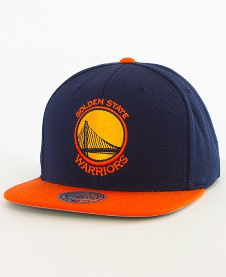 Mitchell & Ness-Golden State Warriors Snapback EU956 Navy/Orange