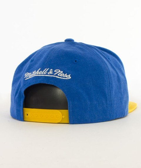 Mitchell & Ness-Sadny Off White Golden State Warriors Snapback VV16Z Niebieski/Żółty
