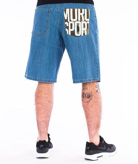 Moro Sport-Moro Sport Spodnie Krótkie Jasny Jeans