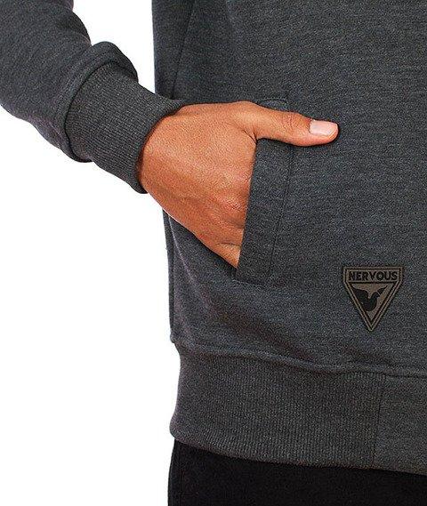 Nervous-Pin Bluza Kaptur Zip Graphite