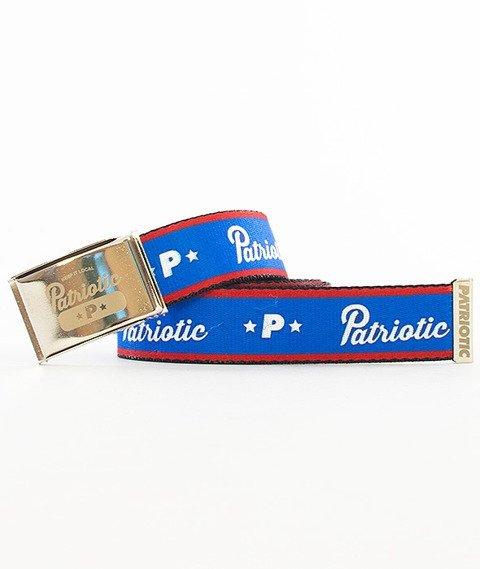 Patriotic-Base Pasek Stalowy/Niebieski/Czerwony