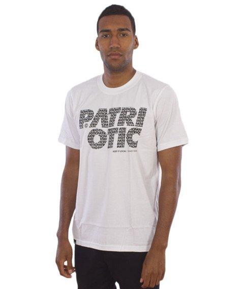 Patriotic-Fonts T-Shirt Biały