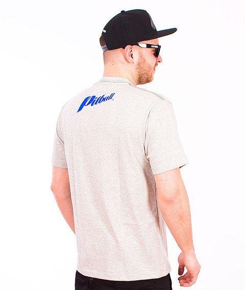 Pit Bull West Coast-Blue Brand T-Shirt Grey Melange